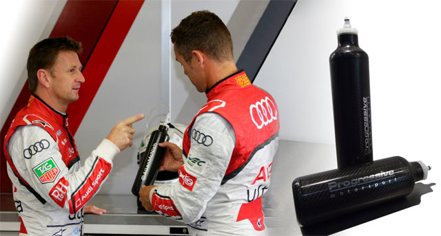 Progressive Motorsport All Carbon Bottles, Allan McNish and Tom Kristensen